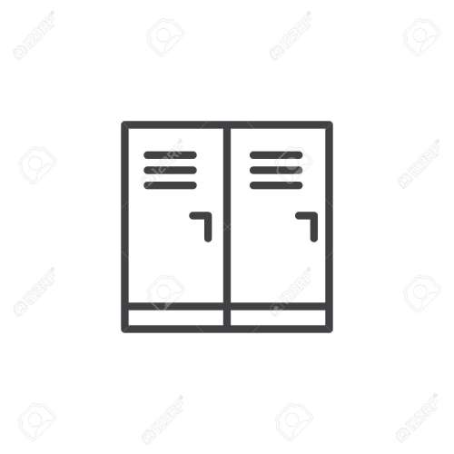 small resolution of locker room outline icon linear style sign for mobile concept and web design school