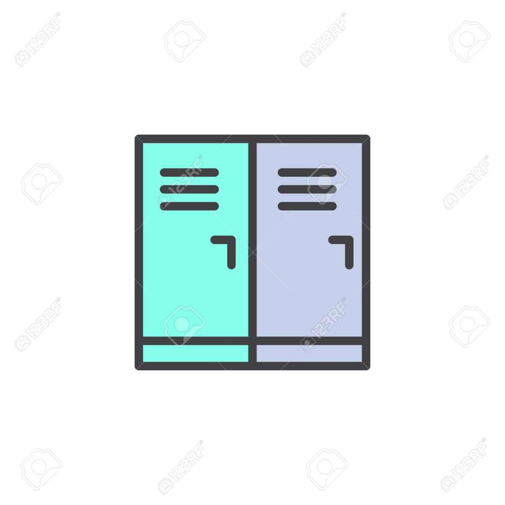 medium resolution of locker room filled outline icon line vector sign linear colorful pictogram isolated on white
