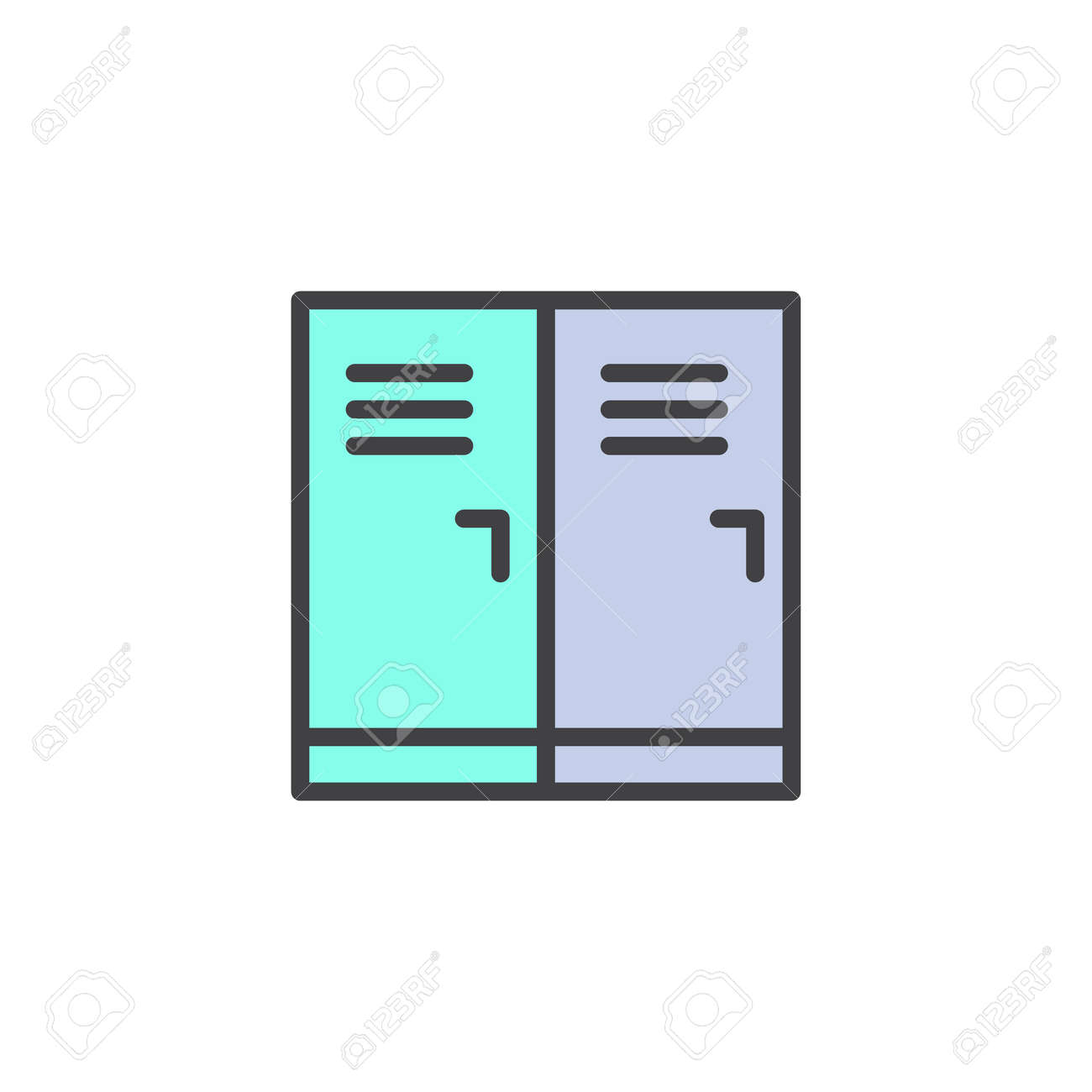 hight resolution of locker room filled outline icon line vector sign linear colorful pictogram isolated on white