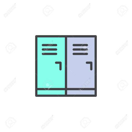 small resolution of locker room filled outline icon line vector sign linear colorful pictogram isolated on white