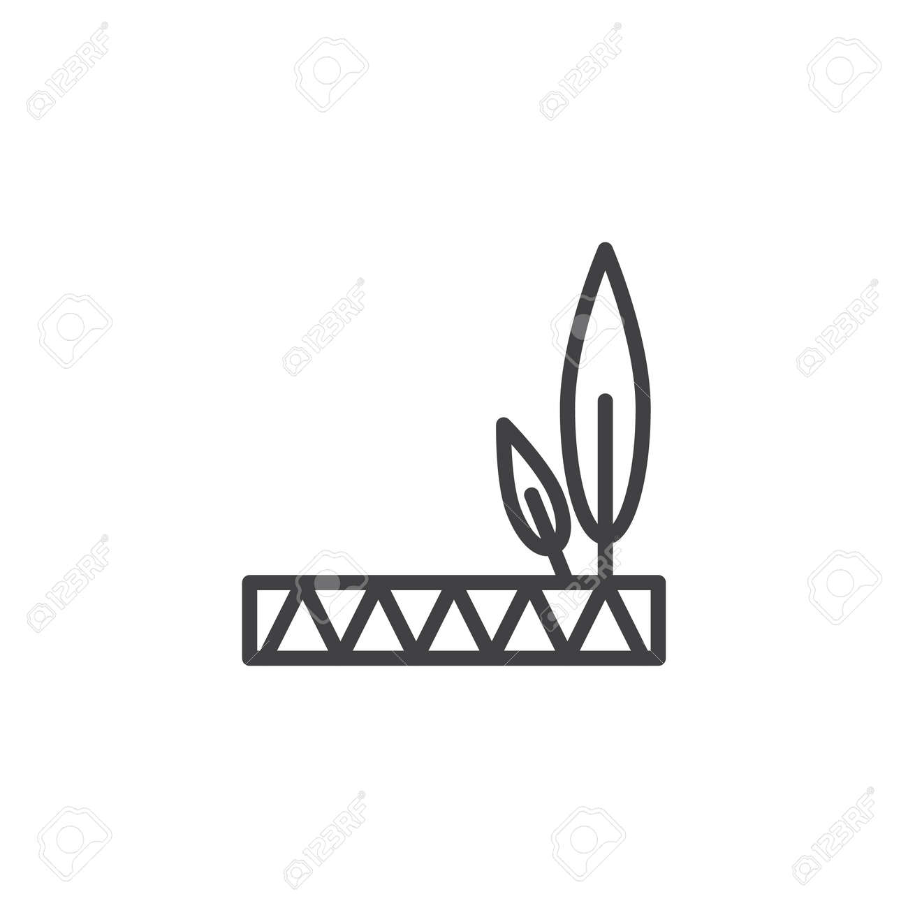 hight resolution of native american feathered headdress outline icon linear style sign for mobile concept and web design