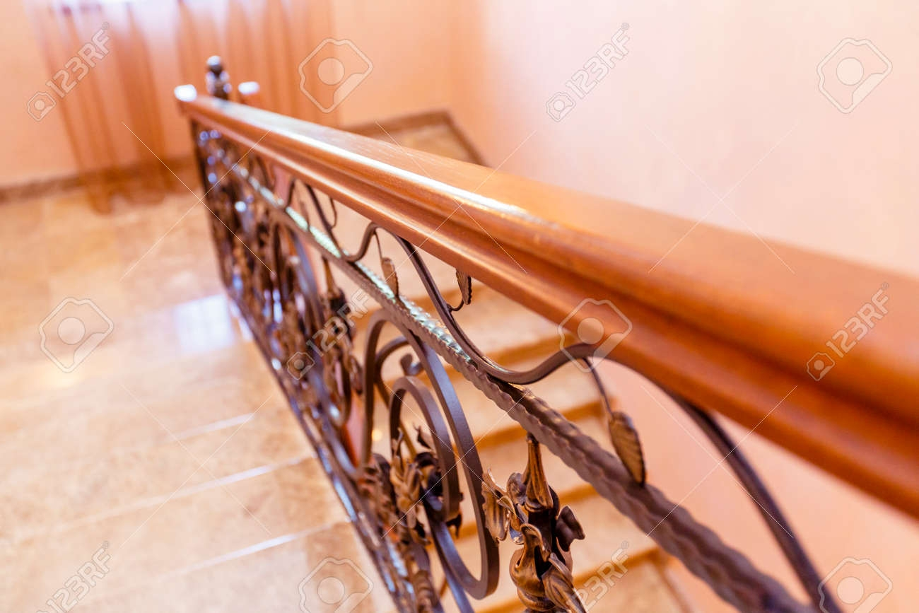 Wrought Iron Staircase In The Cottage Marble Steps Black Wrought | Wrought Iron Handrail For Steps | Aluminum | Simple | Front Door Step | Forged Iron | Custom
