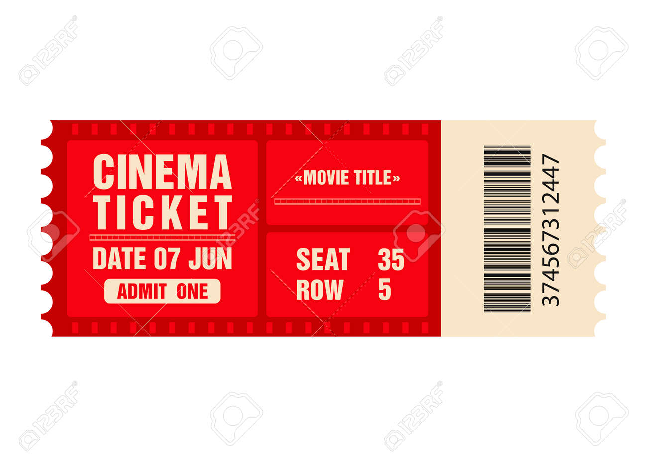 cinema ticket movie ticket