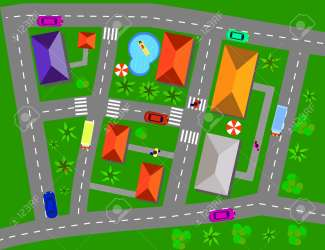 Cartoon Map Of Small Town And Countryside Vector Illustration Royalty Free Cliparts Vectors And Stock Illustration Image 72448817