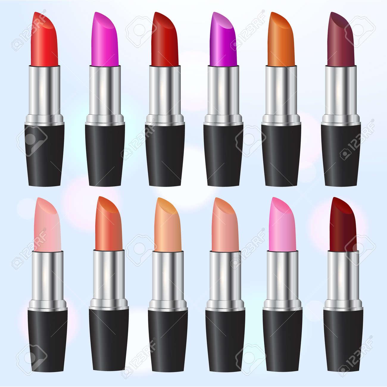 fashion lipstick ads colorful
