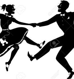 rock and roll dancing silhouette stock vector 36425756 [ 1300 x 861 Pixel ]