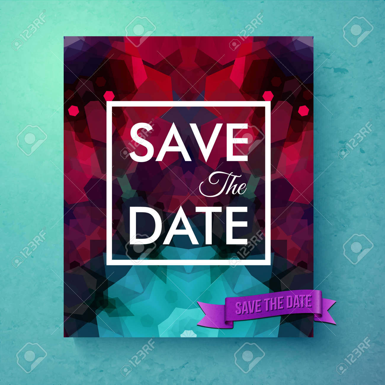 https www 123rf com photo 113426336 stock vector generic save the date invitation card or announcement poster template with green and red and symmetr html