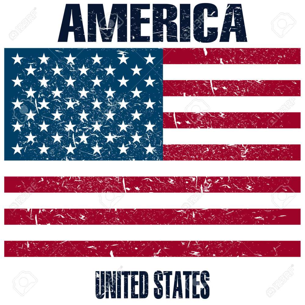 medium resolution of united states of america flag stock vector 107482372