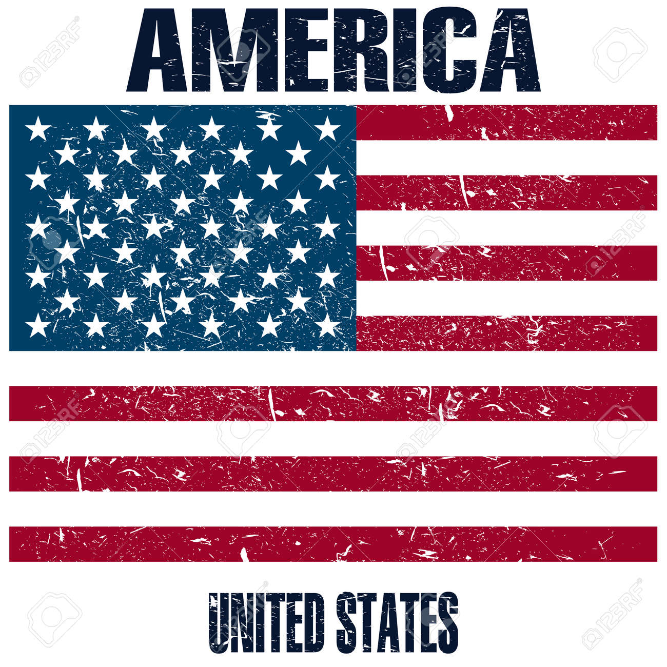 hight resolution of united states of america flag stock vector 107482372