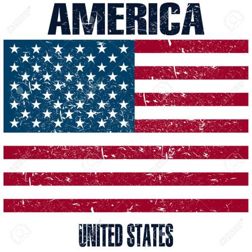 small resolution of united states of america flag stock vector 107482372