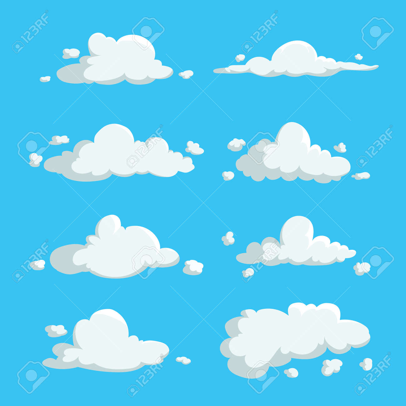 cartoon cute cloud trendy
