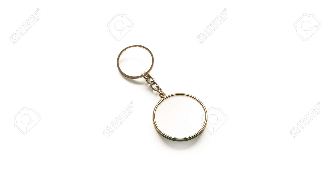 blank golden white key