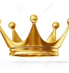 golden crown isolated on a white background [ 1300 x 975 Pixel ]