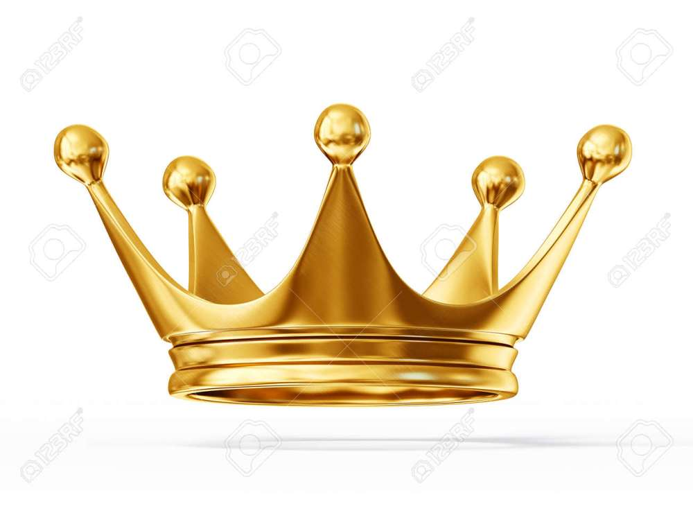 medium resolution of golden crown isolated on a white background