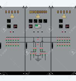 picture of the electrical panel electric meter and circuit breakers high voltage transformer [ 1300 x 1300 Pixel ]