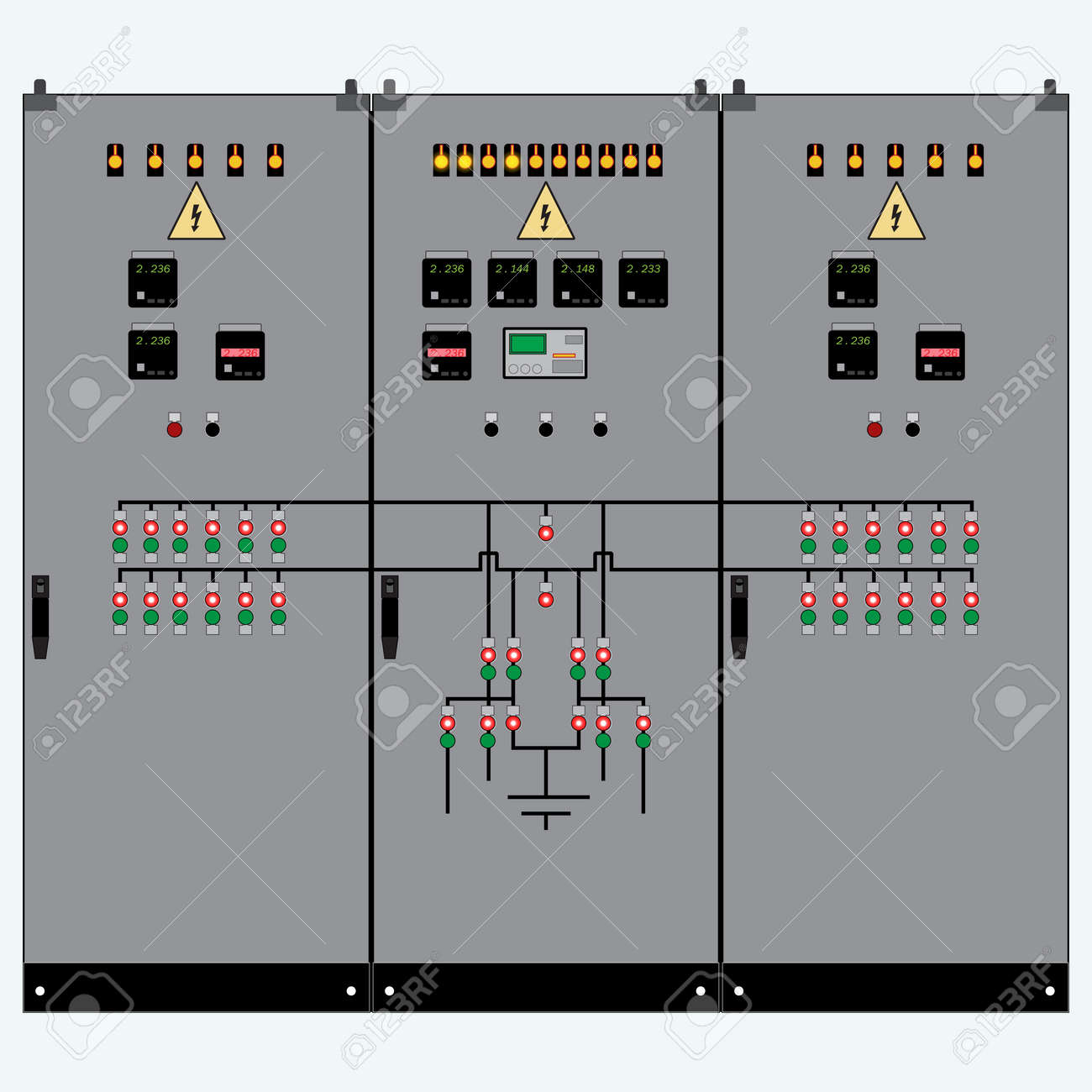 hight resolution of picture of the electrical panel electric meter and circuit breakers high voltage transformer
