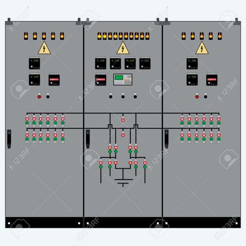 small resolution of picture of the electrical panel electric meter and circuit breakers high voltage transformer