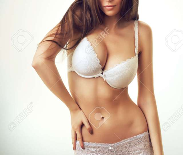 Sexy Beautiful Woman In White Lingerie Stock Photo 33159593
