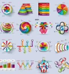 collection of 3d infographic vector design template can be used for workflow processes cycle [ 1300 x 1300 Pixel ]