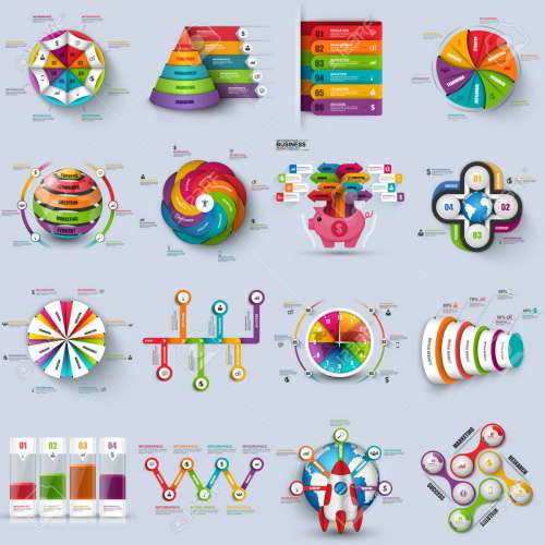 small resolution of collection of 3d infographic vector design template can be used for workflow processes cycle