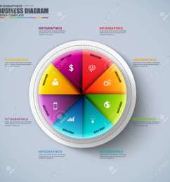 abstract 3d business circular diagram infographic can be used for workflow layout data visualization [ 1300 x 1300 Pixel ]
