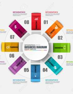 Infographic circular diagram design template can be used for workflow cycle layout business also rh rf