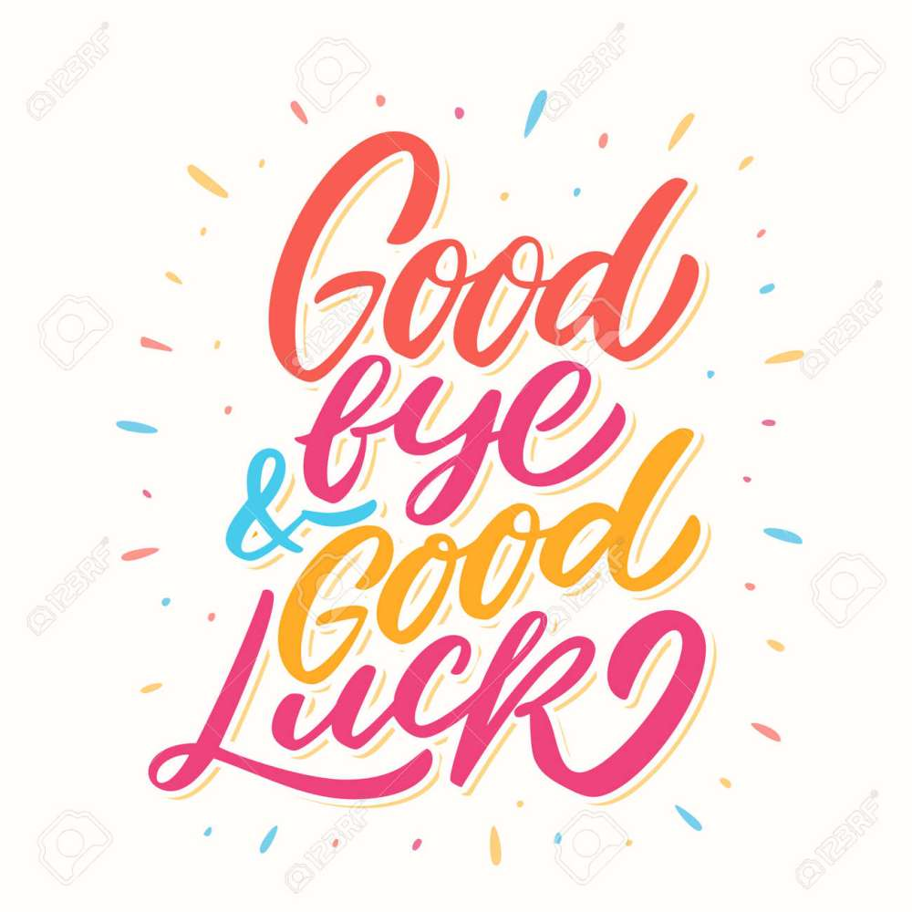 medium resolution of goodbye and good luck farewell card stock vector 103954581