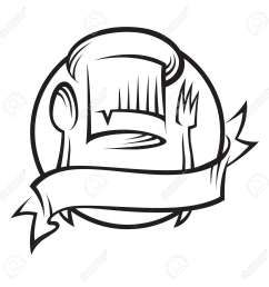 chef hat with spoon and fork stock vector 11650415 [ 1300 x 1300 Pixel ]