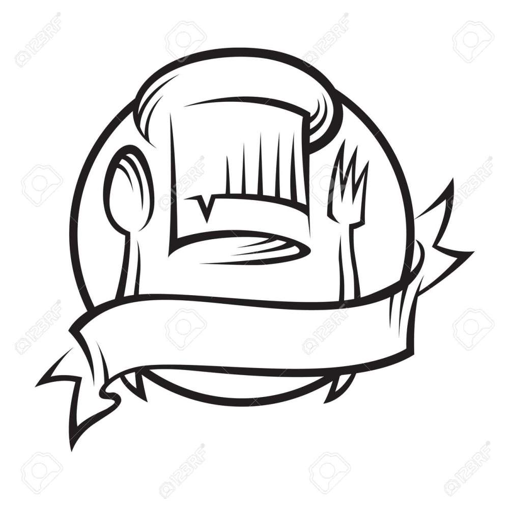 medium resolution of chef hat with spoon and fork stock vector 11650415