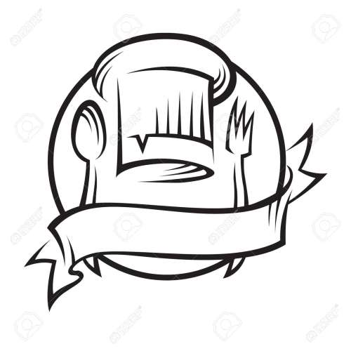 small resolution of chef hat with spoon and fork stock vector 11650415