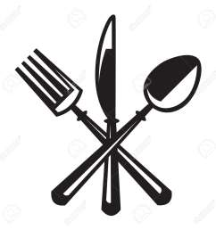 monochrome illustrations set of knife fork and spoon stock vector 16258718 [ 1300 x 1300 Pixel ]