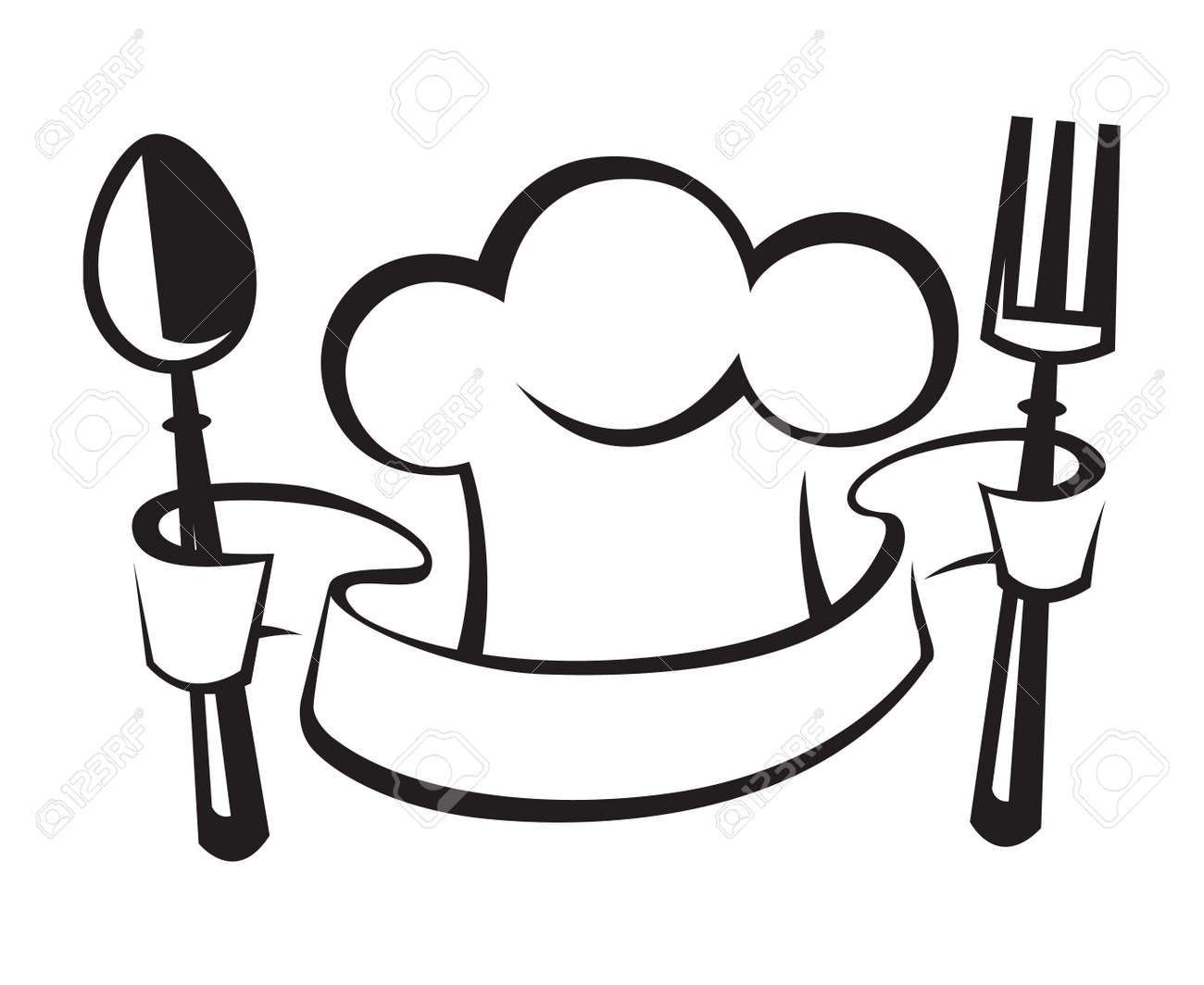 hight resolution of chef hat spoon and fork royalty free cliparts vectors and stock jpg 1300x1063 chef hat clipart