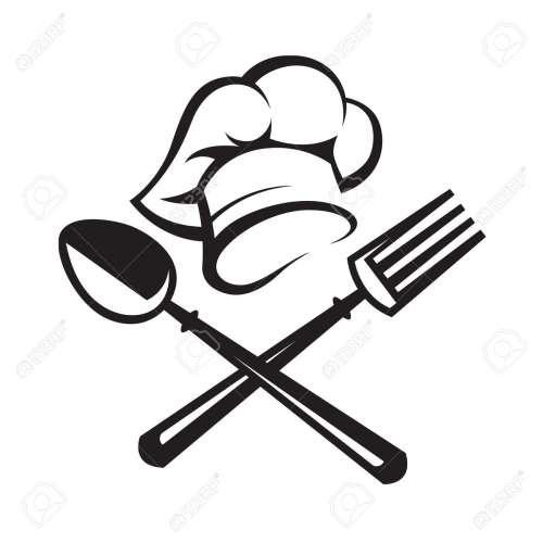 small resolution of black illustration of spoon fork and chef hat