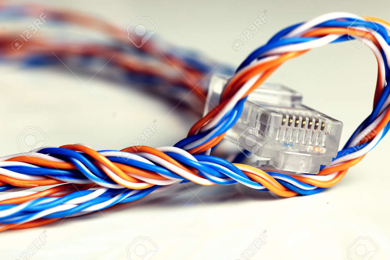hight resolution of plug wire color lan stock photo 74526776