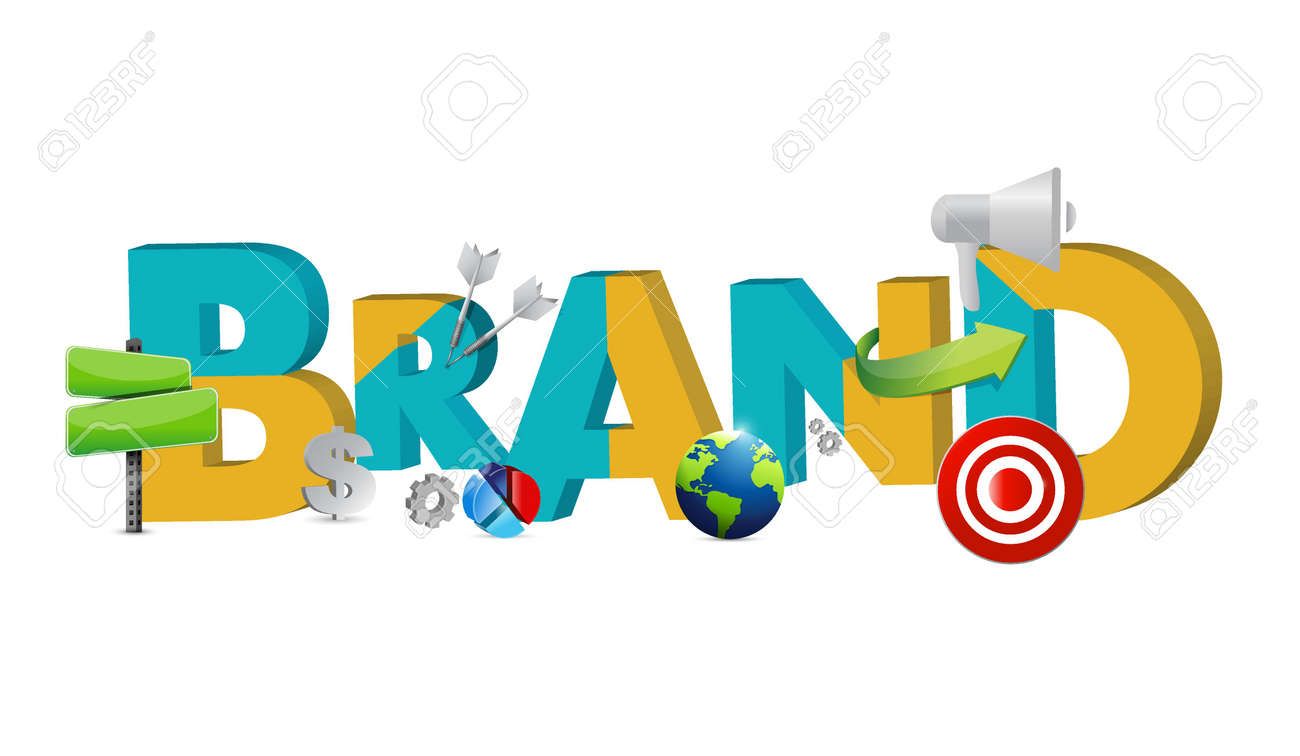 hight resolution of brand text icons concept illustration design graphic stock vector 59972570