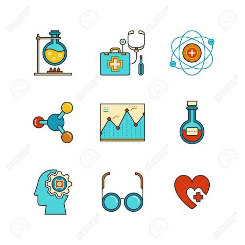 small resolution of chemical flask doctors support first aid kit eye glasses chemistry atom heart shape diagram and psychology