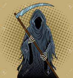 grim reaper pop art retro illustration stock vector 89197414 [ 1300 x 1300 Pixel ]