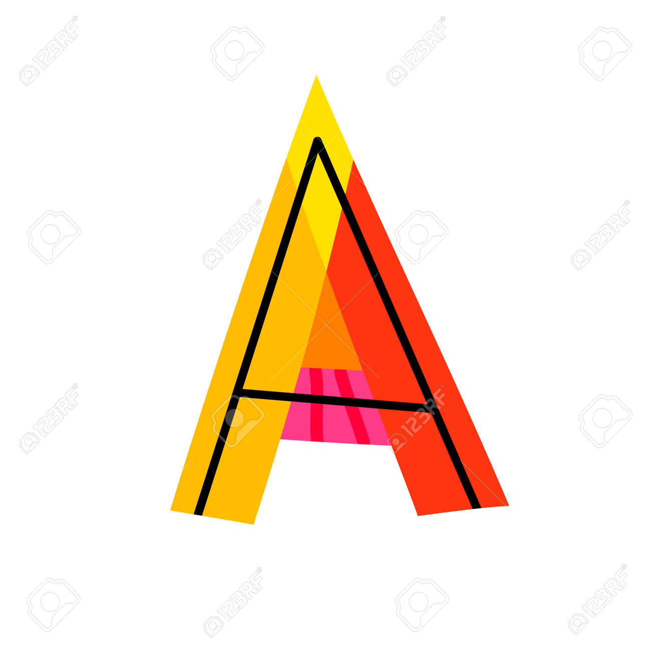 hight resolution of colorful letter a clipart image stock vector 88492038