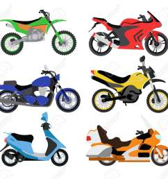 vector motorcycles illustration motorcycles isolated on white background cross bike sport bike  [ 1300 x 1224 Pixel ]