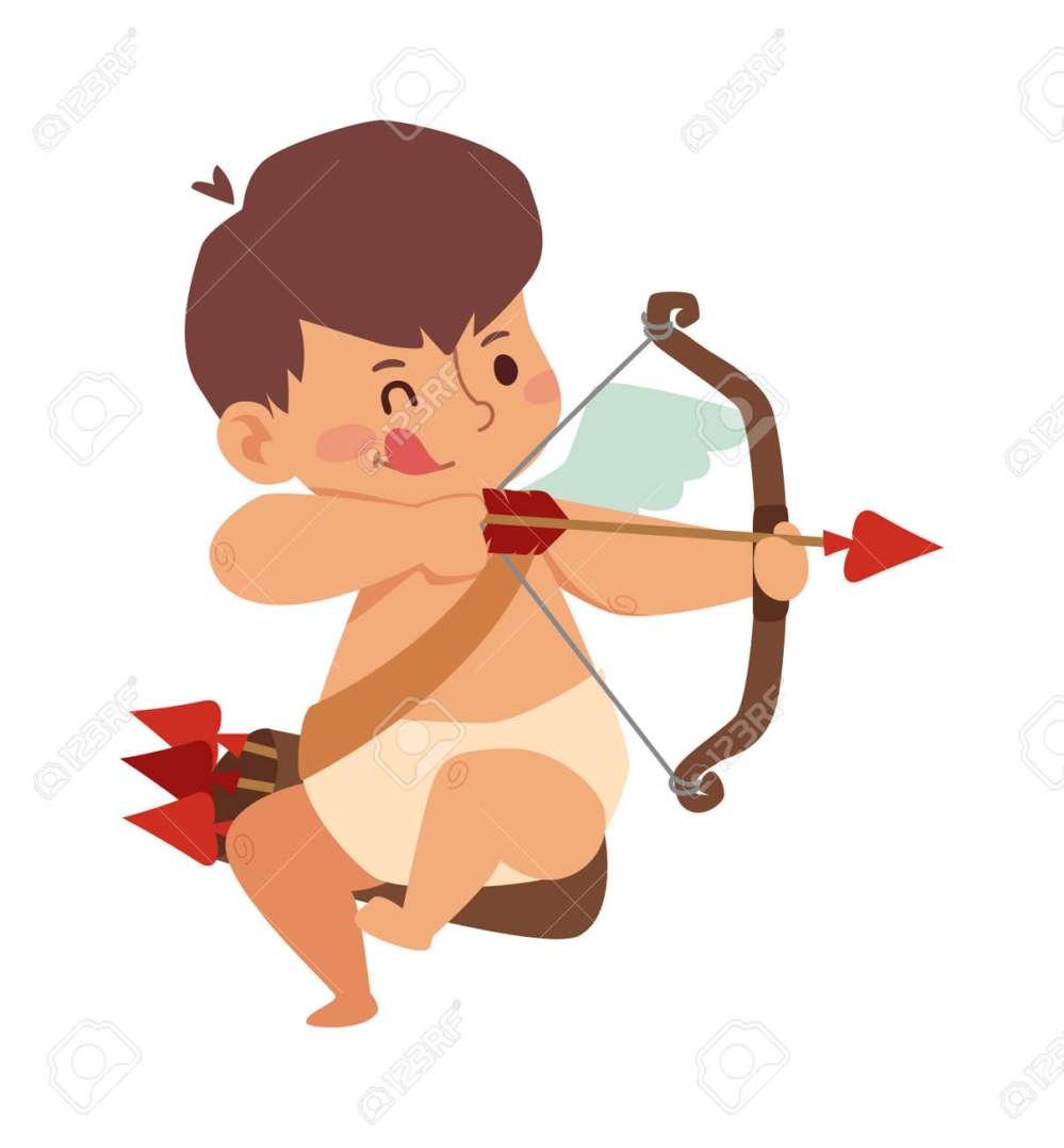 medium resolution of cartoon cute cupid angel smile kid vector silhouette romance cupid angel child little cupid