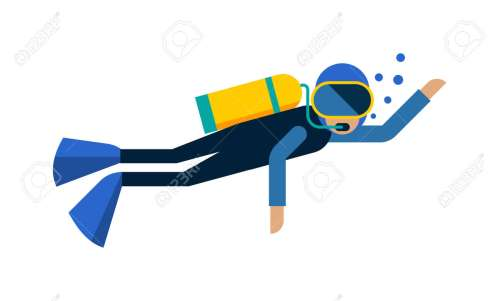 small resolution of scuba diver isolated equipment water sport activity vacation leisure vector illustration underwater people diver isolated