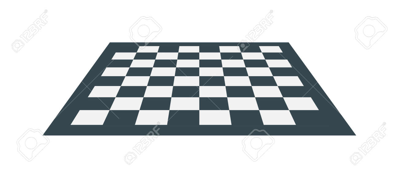 flat checker chess board
