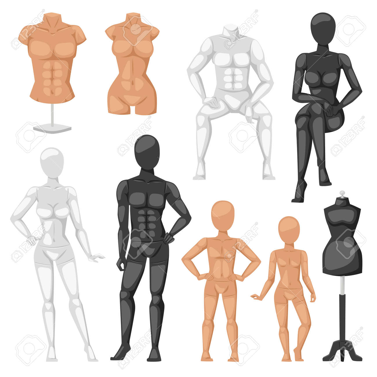 isolated dummy mannequin model