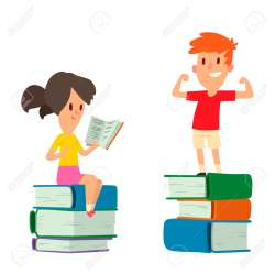 Children Studying Together Vector Illustration Royalty Free Cliparts Vectors And Stock Illustration Image 96439501