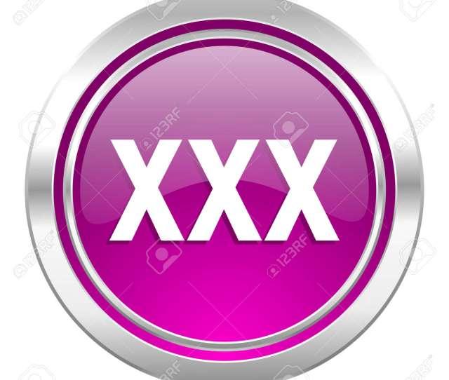 Stock Photo Xxx Violet Icon Porn Sign