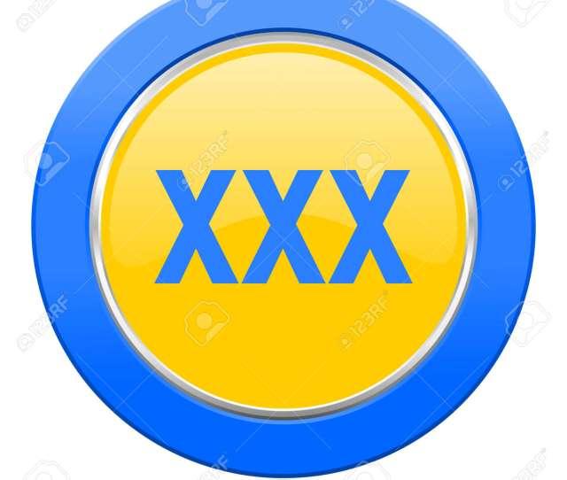 Stock Photo Xxx Blue Yellow Icon Porn Sign
