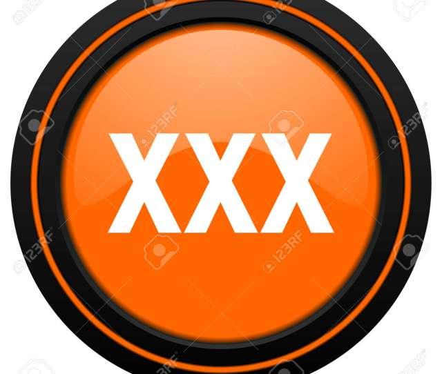 Stock Photo Xxx Orange Icon Porn Sign