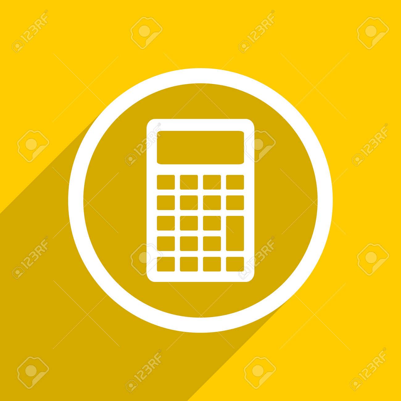 yellow flat design calculator