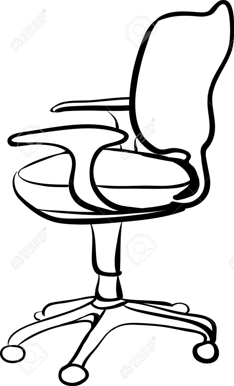 office chair illustration dining table back covers sketch linear isolate vector royalty free stock 37358590
