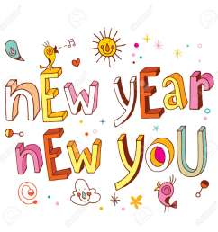 new year new you stock vector 54765899 [ 1300 x 1300 Pixel ]